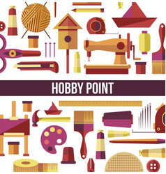 hobpoint seamless pattern handicraft tools vector image
