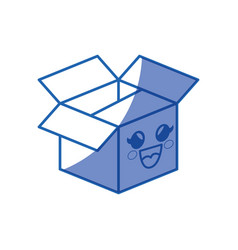 Kawaii box icon vector