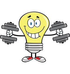 Light bulb with gym muscles vector image