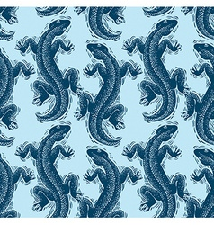 lizards wrapping paper seamless pattern with vector image