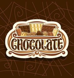 logo for chocolate vector image