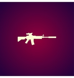machine gun icon concept for vector image