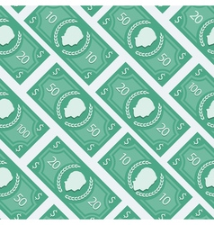 Money flat pattern vector
