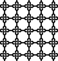 Monochrome seamless chain pattern vector