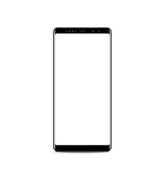 new version black slim smartphone similar vector image
