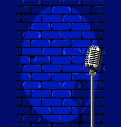 Nightclub stage wall vector