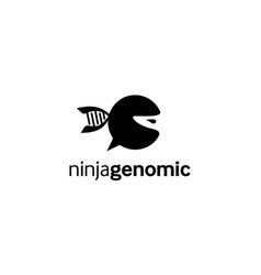 ninja genomic logo design concept vector image