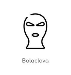 Outline balaclava icon isolated black simple line vector