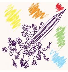 pencil concept vector image