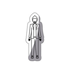 people man with wedding dress icon vector image