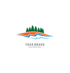 Pine forest logo vector