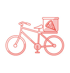Pizza bycicle shadow vector