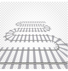 Rail railroad track railway vector