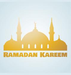ramadan kareem islamic mosque vector image