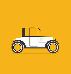 retro car in flat style vector image