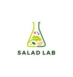 Salad lab logo icon vector