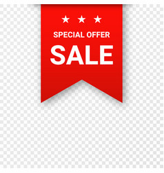 sale price tag or label isolated on transparent vector image