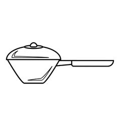 Saucepan icon outline style vector