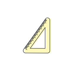 School triangle ruler object design vector