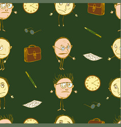 Seamless pattern from the teachers vector