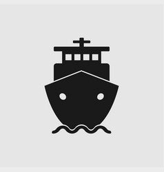 ship icon in flat style vector image