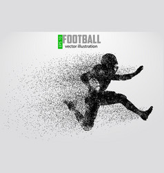 silhouette football player vector image