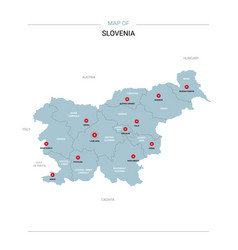 Slovenia map with red pin vector