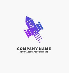 Space craft shuttle space rocket launch purple vector