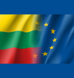 Symbol lithuania is eu member vector