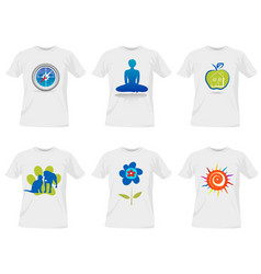 T-shirt templates design vector