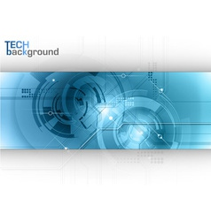 tech background line blue center vector image