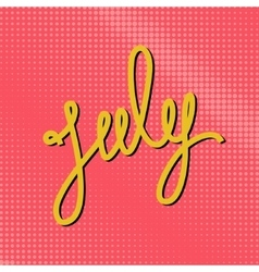Text July on a Pink Pop Art Background vector