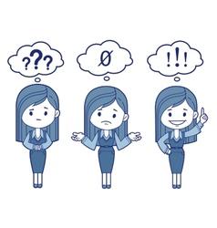 Three character women vector image