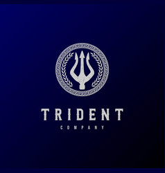 Trident neptune god poseidon triton king spear lab vector