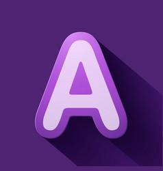 Volume icons alphabet a vector