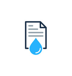 water document logo icon design vector image
