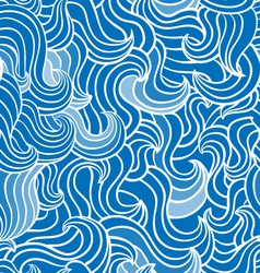 Wave blue pattern vector image