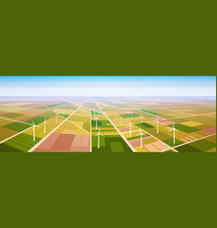 Wind turbine energy renewable station field vector