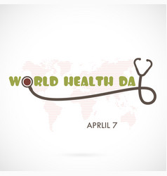 World health day typographical design elements vector