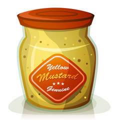 Yellow mustard pot vector