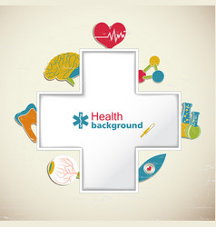 medical health background vector image