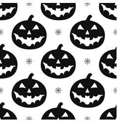 pattern with black pumkins vector image