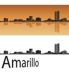 Amarillo skyline in orange vector image vector image