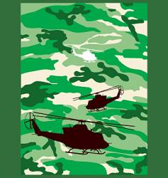 camouflage helicopter vector image