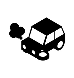 Car crash silhouette vector image vector image