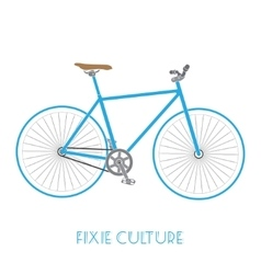 fixed gear bicycle culture isolated vector image vector image