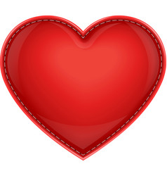 leather pillow heart vector image
