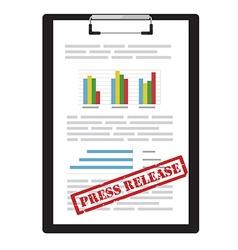 Press release icon vector image vector image