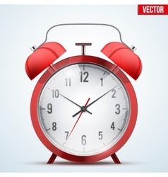 Traditional red alarm clock vector image