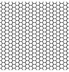 002 black and white basic hexagonal shape vector image